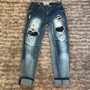 Hot Kiss Jeans with patched/washed holes